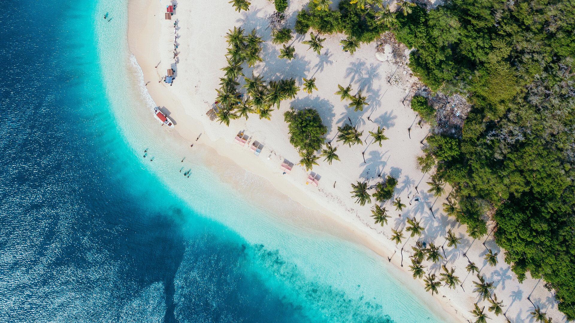 vue aérienne île