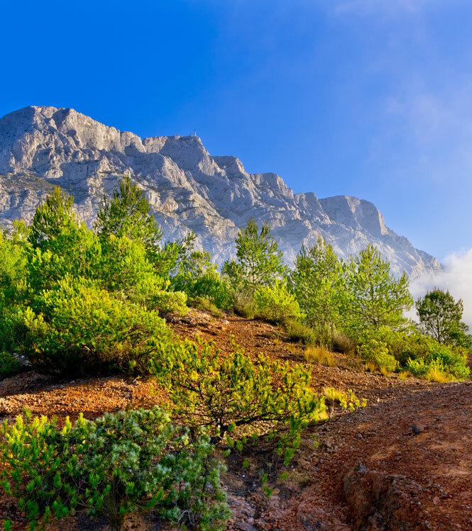De la montagne Sainte Victoire aux calanques
