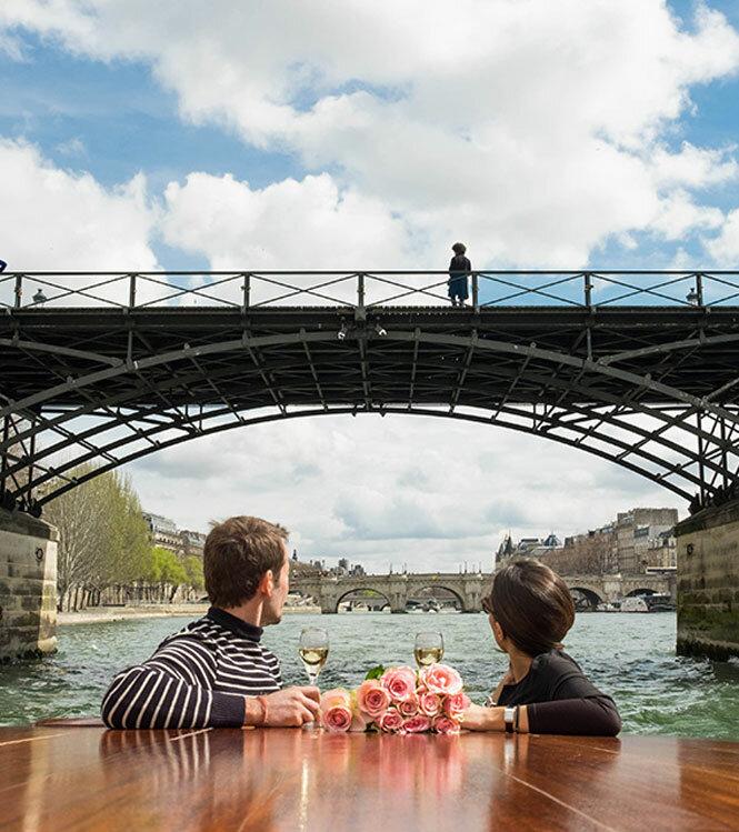 Couché de soleil parisien en Riva